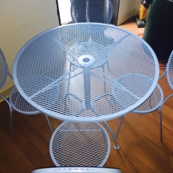 Refurbished Wrought Iron Table Set