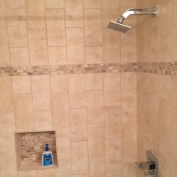 After Shower Tile Installation