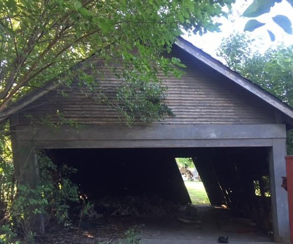Before Garage Demolition