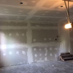 After Garage Drywall Installation