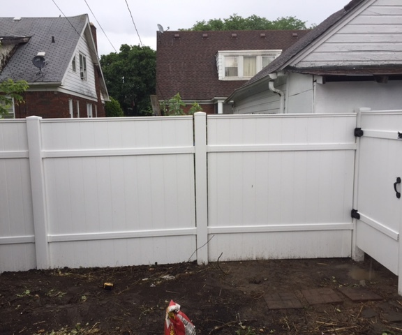 After Privacy Fence Installation