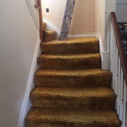 Before Stair Refinishing
