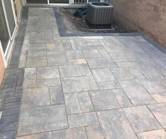 After Brick Paver Installation