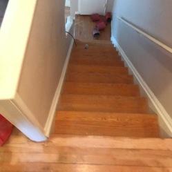 Before Stairs Refinishing